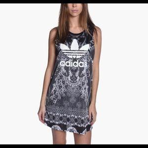 Adidas original big logo cut out dress S